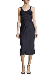 Helmut Lang Solid Scoopback Dress