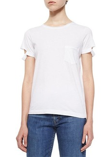 Helmut Lang Split-Sleeve Pocket Tee