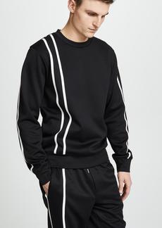 Helmut Lang Sport Stripe Crew Neck Sweatshirt