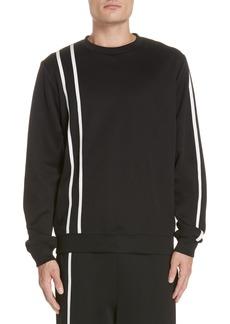 Helmut Lang Sport Stripe Print Sweatshirt