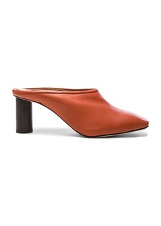Helmut Lang Square Toe Leather Mules