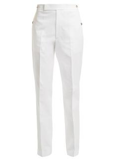 Helmut Lang Straight-leg cotton-blend trousers