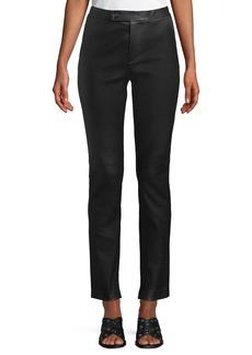 Helmut Lang Straight-Leg Leather Suit Pants