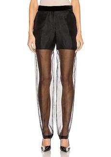 Helmut Lang Straight Leg Organza Pant