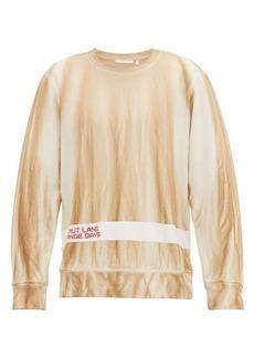 Helmut Lang Strange Days cotton-jersey sweatshirt