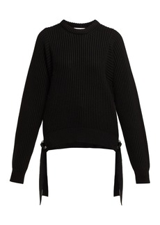 Helmut Lang Strap detail knitted-cotton sweater