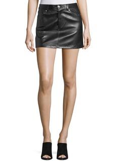 Helmut Lang Stretch-Leather 5-Pocket Mini Skirt