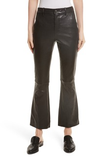 Helmut Lang Stretch Leather Flare Pants