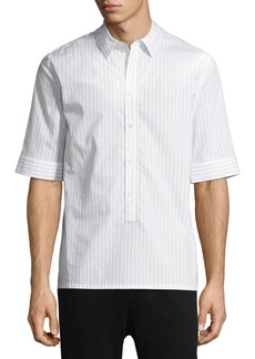 Helmut Lang Striped Short-Sleeve Sport Shirt