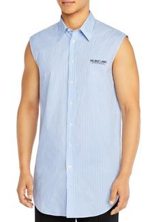 Helmut Lang Striped Sleeveless Regular Fit Button-Down Shirt