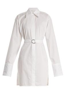 Helmut Lang Striped tie-waist cotton shirtdress