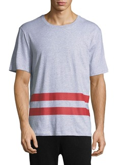 Helmut Lang Striped-Trim Cotton T-Shirt