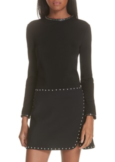 Helmut Lang Studded High Neck Top