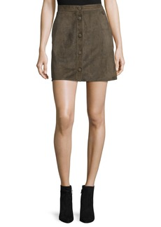 Helmut Lang Suede High-Rise Mini Skirt