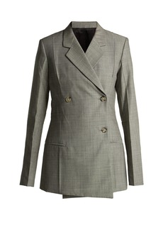 Helmut Lang Tailored wool and mohair blend blazer