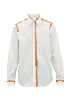 Helmut Lang Tape-print cotton shirt