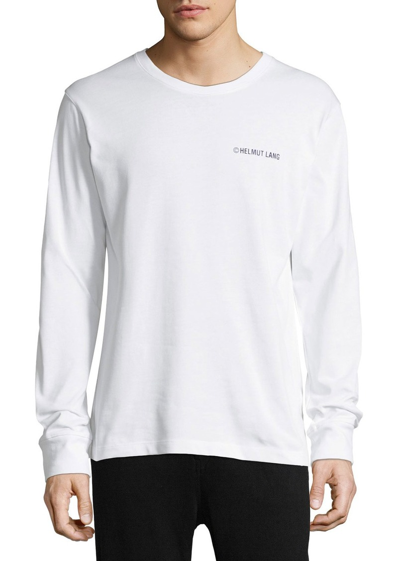 Helmut lang taxi graphic long sleeve t shirt casual shirts for Helmut lang t shirt