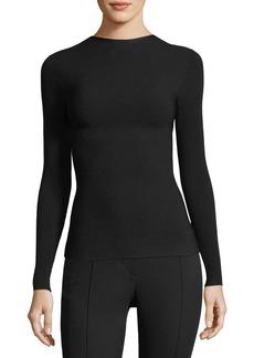 Helmut Lang Technical Tie-Back Long-Sleeve Jersey Top