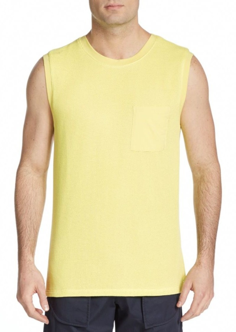 Helmut Lang Thermal-Front Cotton Muscle Tank
