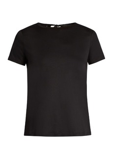Helmut Lang Tie-back cotton-jersey T-shirt