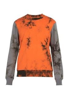 Helmut Lang Tie-dye cotton sweatshirt