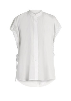 Helmut Lang Tie-side cotton-poplin shirt