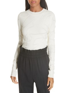 Helmut Lang Trail Pattern Jacquard Top