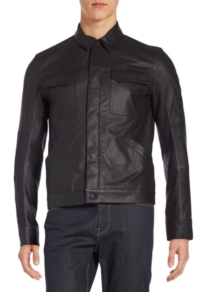 Helmut Lang Trucked Leather Jacket