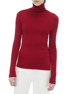 Helmut Lang Turtleneck Long-Sleeve Rib Top