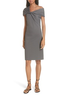 Helmut Lang Twist Neck Ribbed Dress