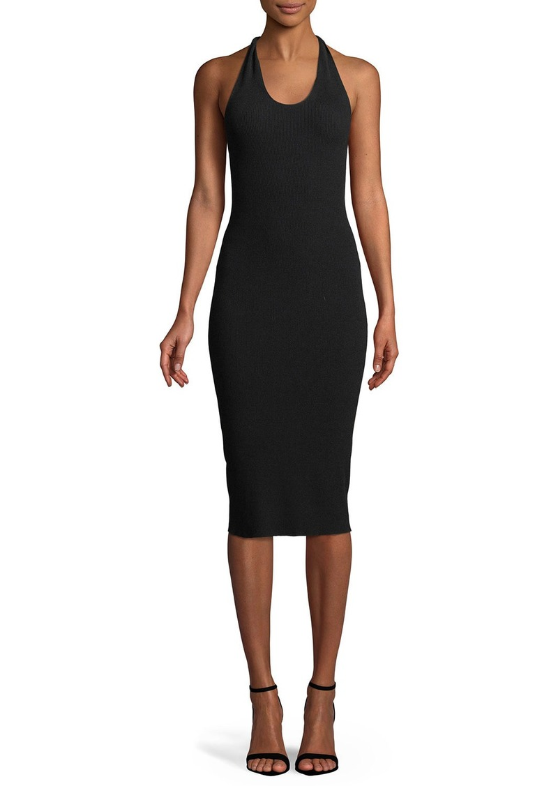 Helmut Lang Twist Scoop-Neck Tank Midi Dress