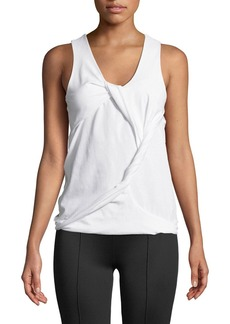 Helmut Lang Twisted Drape Scoop-Neck Tank