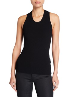 Helmut Lang Twisted Jersey Tank Top