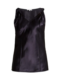 Helmut Lang Twisted knot satin top