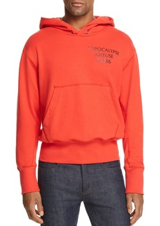 Helmut Lang Upside-Down Logo Hooded Graphic Sweatshirt