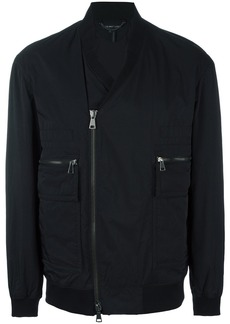 Helmut Lang V-neck bomber jacket - Black