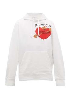 Helmut Lang Valentine-print cotton hooded sweatshirt