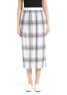 Helmut Lang Variegated Plaid Skirt