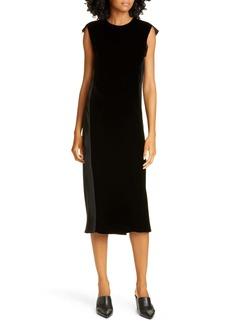 Helmut Lang Velvet Midi Dress