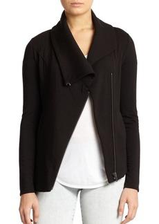 Helmut Lang Villous Asymmetrical Stretch Knit Jacket