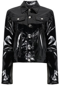 Helmut Lang Vinyl Button-Front Jacket - Black