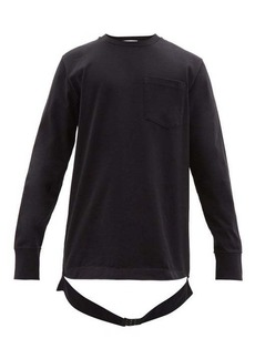 Helmut Lang Waist strap cotton long-sleeved T-shirt