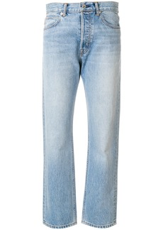 Helmut Lang washed out mum jeans - Blue