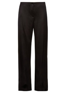 Helmut Lang Wide-leg satin-twill trousers