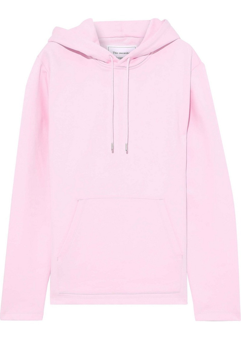 Helmut Lang Woman + Jeremy Deller French Cotton-terry Hoodie Baby Pink
