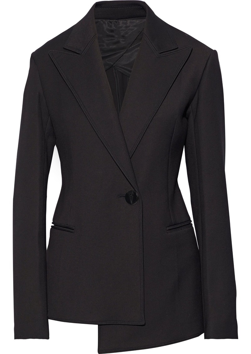Helmut Lang Woman Asymmetric Cady Blazer Black