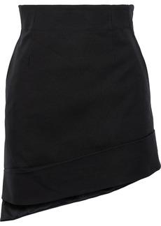 Helmut Lang Woman Asymmetric Canvas Mini Skirt Black