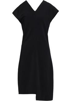 Helmut Lang Woman Asymmetric Crepe Mini Dress Black