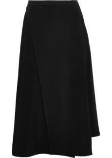 Helmut Lang Woman Asymmetric Stretch-jersey Skirt Black