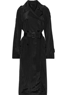 Helmut Lang Woman Belted Shell Trench Coat Black